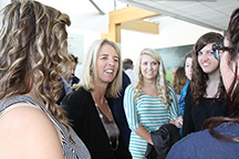 Honors Students at Dunbrody Centre with Rory Kennedy